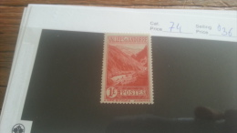 LOT 223374 TIMBRE DE ANDORRE NEUF* N�74 VALEUR 36 EUROS
