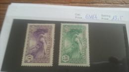 LOT 223378 TIMBRE DE ANDORRE NEUF* N�63/64 VALEUR 13,5 EUROS