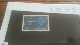 LOT 223382 TIMBRE DE ANDORRE NEUF* N�188 VALEUR 15 EUROS