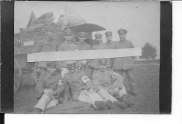 1914-1915 Ambulance Allemande Et Son équipe D'infirmiers Komp.san. 1 Photo 1914-1918 14-18 Ww1 Wk - Guerre, Militaire