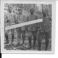 Soldats Français Argonne 04/04/1916 Photo Souvenir Du Sergent Charles Dupont 76èR.I à Sa Marraine 1 Photo 14-18 Ww1 Wk - War, Military