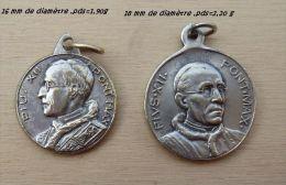 Med-0441  Lot De 2 Médailles Anciennes Pivs.XII - Godsdienst & Esoterisme