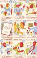 LOT DE 9 IMAGES  - VIN DE FRILEUSE  LE PLUS FORT DES FORTIFIANTS - Vieux Papiers