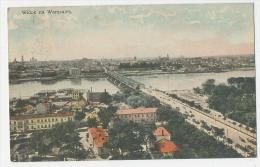 Pologne - Widok Na Warszawe Coloured Postcard Postally Used To Denmark 1914 - Polen