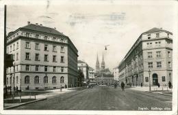 CROATIE ZAGREB Rackoga Ulica Rue Rackoga Cachet Facteur Cor De Postes Bucarest - Kroatië