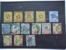 GB EDWARD VII SELECTION WITH SHADES AND PRINTINGS ON A STOCK CARD - Used Stamps