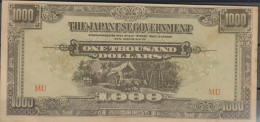 O) 1943 JAPAN-PHILIPPINES, 1000 DOLLARS-ONE THOUSAND DOLLARS, OX-STEERS, THE JAPANESE GOVERNMENT-RED MU, XF - Japan