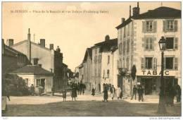 87-Saint Junien-Place de la Bascule et rue Defaye (faubourg Saler)