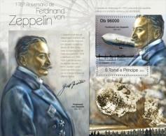 st13116b S.Tome Principe 2013 Ferdinand von Zeppelin s/s