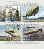 st13116a S.Tome Principe 2013 Ferdinand von Zeppelin s/s