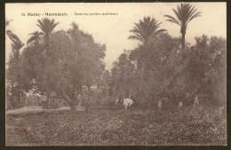 MARRAKECH Dans Les Jardins Extérieurs Maroc Afrique - Marrakech