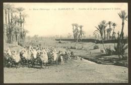 MARRAKECH Notables De La Ville Accompagnant Le Sultan (Grébert) Maroc Afrique - Marrakech