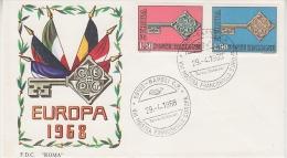 Europa Cept 1968 Italy 2v FDC (F1917) - 1968