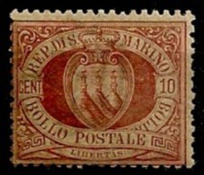 Timbres - Saint-Marin - 1877-1899 - 10c. - - Saint-Marin