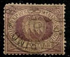 Timbres - Saint-Marin - 1877-1899 - 20c. - - Saint-Marin