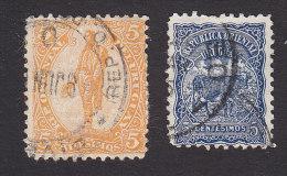 Uruguay, Scott #160a, 163, Used, General Artigas, Cow, Issued 1901 - Uruguay