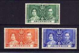 Ascension - 1937 - GVI Coronation - MH - Ascension (Ile De L')