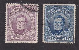 Uruguay, Scott #187, 190, Used, Artigas, Issued 1910 - Uruguay