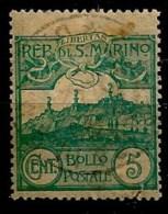 Timbres - Saint-Marin - 1903 -5c. - - Oblitérés
