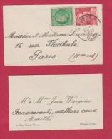 Enveloppe  //   De Noyon  //  Pour Paris  //  20/1/49 - 1921-1960: Modern Tijdperk