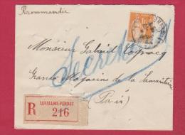 Enveloppe Recommandée  //  De Levalois- Perret  //  Pour Paris  //  1933 - 1921-1960: Modern Tijdperk