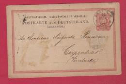 Allemagne   //  Entier Postal //  De Berlin  //  Pour Carpentras //  13 Avril 1880 - Briefe U. Dokumente