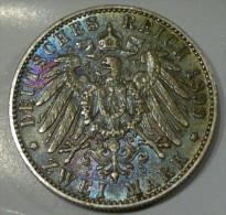 ZWEI / 2 MARK 1899 E - ALBERT Koenig Von Sachsen - [ 2] 1871-1918 : German Empire