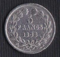 A SAISIR---5 FRANCS LOUIS PHILIPPE I 1838 B - ETAT TB//TTB++ - France