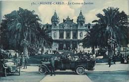 Depts Divers - Monaco - Ref R 248  -  Monte Carlo - Le Casino Et Jardins - Plan Voitures -   Carte Bon Etat - - Monte-Carlo