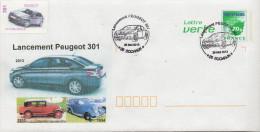 Lancement Peugeot 301 Sur PAP Lettre Verte - Postwaardestukken