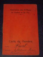 Radio TSF Rare Carte De Membre De 1932 Association Des S.Filistes De Toulon Et Du Var/Café De L'Amirauté Toulon - Radio & TSF