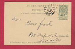 Belgique   //  Entier Postal //  Pour Bruxelles // 24/8/1899 - Cartoline [1871-09]