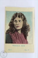 Old Trading Card/ Chromo Topic/ Theme Cinema/ Movie - Spanish Chocolate Advertising - Actress: Priscilla Dean - Otros