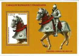 Nicaragua - 1996 - Horses In The Army And Parade - Mint Souvenir Sheet - Nicaragua