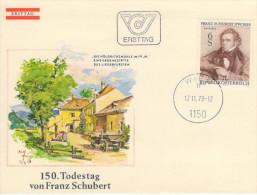 Österreich/Austria, FDC 1978; Musik/Music, Franz Schubert  (HOV-1407) - Musik