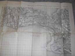 13 SAINTES MARIES DE LA MER LA COURONNE CAMARGUE PROVENCE BAUDUC SALIN DE GIRAUD CARTE - Topographical Maps