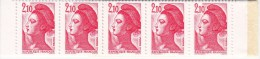 Carnet 10 Timbres 2,10 Rouge Type Liberté De Delacroix - N°2319 (pour Vente Au Guichet) (voir Scans) - Carnets