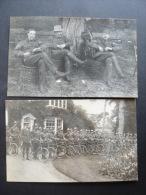 F400. LOT 2 CARTE PHOTO MILITAIRE MILITARY UFFORD SUFFOLK 1907