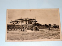 Carte Postale Ancienne : La Résidence à KALINA-LEO - Kinshasa - Léopoldville