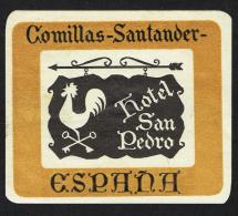 Hotel Comillas Santander SPAIN - Vintage Luggage Label - 10*8 Cm - Hotel Labels