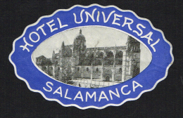 Gran Universal Salamanca SPAIN - Vintage Luggage Label - 8*5 Cm - Hotel Labels