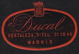Hotel Ducal Madrid SPAIN - Vintage Luggage Label - 9*6 Cm - Hotel Labels