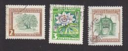 Uruguay, Scott #607, 608, 610, Used, Ombu  Tree, Passion Flower, Montevideo Fortress, Issued 1954 - Uruguay