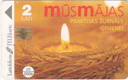 LATVIA - Musmajas, Tirage 60000, Exp.date 10/06, Used - Latvia