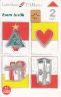 LATVIA - Christmas 2004, Tirage 50000. Exp.date 11/05, Used - Latvia