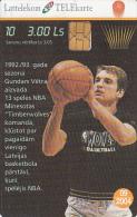 LATVIA - Baskatball 10/Gundars Vetra, Tirage 25000, Exp.date 09/04, Used - Latvia