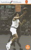 LATVIA - Basketball 9/Igors Miglinieks, Tirage 30000, Exp.date 02/04, Used - Letland