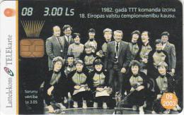 LATVIA - Baskatball 8/National Team 1982, Tirage 30000, Exp.date 09/03, Used - Latvia
