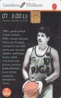LATVIA - Baskatball 7/Valdis Valters, Tirage 35000, Exp.date 11/02, Used - Lettland