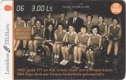 LATVIA - Baskatball 6/National Team 1960, Tirage 35000, Exp.date 03/02, Used - Latvia